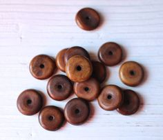 Brown bone disc beads by allthatglittersbeads on Etsy