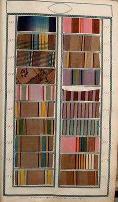 Book of samples (1825) In the Mary Ann Beinecke Decorative Art Collection. Sterling and Francine Clark Art Institute Library. https://archive.org/stream/bookofsamples00fort#page/n17/mode/2up