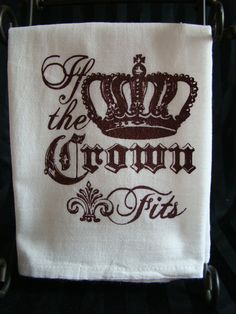 Crown Rich deep Brown and White hand by SweetBohemianLife on Etsy, $12.00