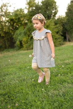 Image of Opal Knit Flutter Tunic Top and Dress Pattern 12 months 9/10 years
