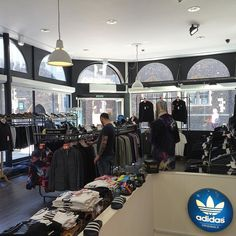 It's a glorious Monday morning here in Norwich  Elvis is sorting out the shop for another busy week ahead. Keeps your eyes peeled for AW'16 deliveries from @adidasoriginals and @stoneisland_official which are due this week!  #shop #retail #norwich #philipbrownemenswear