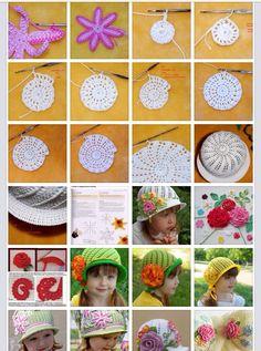 a421a9c9083 Álbum de sombreros. Crochet Summer HatsCrochet DoiliesKnit CrochetYarn  CraftsFree PatternKnitting PatternsCrochet EarringsHat CrochetToddler Dress