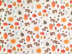Fall/Autumn print fabric swatch for custom made-to-order scrub top