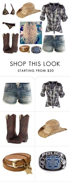"""""""Swimming Hole"""" by jwpixie ❤ liked on Polyvore featuring Current/Elliott, Realtree, Ariat, KENNY, Mulberry and POLICE"""