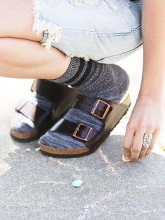 Birkenstocks the only sandals that would look good with socks in my opinion!! :)