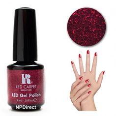 Red Carpet Manicure Gel LED Nail Polish - Draped In Rubies 9ml
