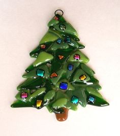 Fused Glass Christmas Ornament via Etsy.