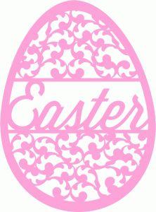 Silhouette Online Store: easter egg swirl