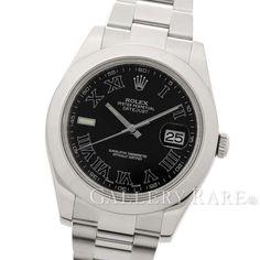 ロレックス デイトジャスト2 ブラックローマン文字盤 116300 ランダム ルーレット ROLEX 腕時計