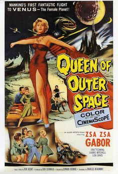 Queen Of Outer Space 1958 Science Fiction Film Vintage Poster Art Zsa Zsa Gabor in Art, Art from Dealers & Resellers, Posters Horror Vintage, Retro Horror, Vintage Films, Vintage Posters, Retro Vintage, Classic Sci Fi Movies, Classic Movie Posters, Horror Movie Posters, Theatre Posters