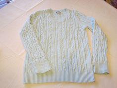 Croft & Barrow long sleeve pullover cotton sweater womens shirt top L aqua GUC #CroftBarrow #sweater #Casual