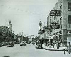 downtown las vegas in the 1940's