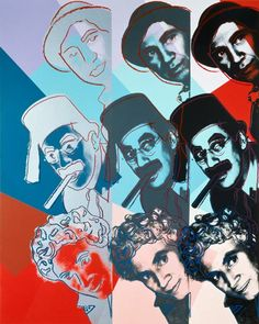 Marx Brothers by Andy Warhol from his series Ten Portraits of Jews of the 2 - The Independent