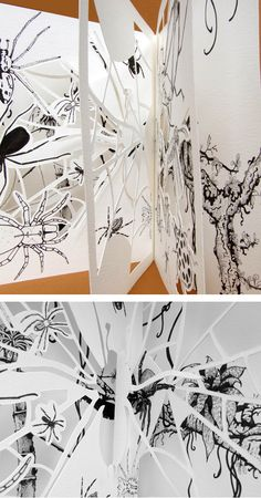 Evolution, food chains, illustration and hand cut paper sculpture - copyright Ann Dadd Cut Paper, Paper Cutting, Food Chains, Portfolio Design, Evolution, Ann, Lounge, Graphic Design, Sculpture