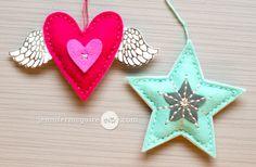 Felt Ornaments Video by Jennifer McGuire Ink