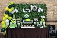 Tennis Party Table 70th Birthday Parties, Retirement Parties, Grad Parties, Tennis Cake, Tennis Party, Tennis Decorations, Tennis Crafts, Party Activities, Holidays And Events