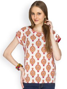 100% COTTON SHORT SLEEVE WHITE FLORAL PRINTED WITH ELASTICATED WAIST DETALING TOP  - See more at: http://www.namakh.com/FUSION-TOP/WHITE-PRINTED-TOP-id-1172244.html#sthash.d7hX3cvM.dpuf