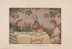 Tea Party-Mad Hatter-Door Mouse-Alice In Old Antique Vintage Art Print-Gothic Picture-Children's Book-Wall Decor-March Hare Vintage Art Prints, Antique Prints, Antique Art, Gothic Pictures, March Hare, Book Wall, Old Antiques, Alice In Wonderland, Tea Party