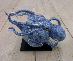 Art Octopus Vase Keiko Masumoto Ceramic 2017