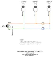 DIY Digitech/ TC Helicon Three Button FSW