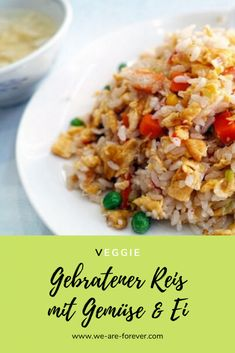 Recipe: fried rice with eggs and vegetables – quick and easy Informations About Rezept: Gebratener Reis mit Ei und Gemüse – einfach und schnell Pin You can easily use my … Easy Healthy Recipes, Quick Easy Meals, Healthy Snacks, Vegetarian Recipes, Fried Rice With Egg, Arroz Frito, Rice Recipes For Dinner, Dessert Recipes, Le Diner
