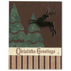 Holiday Card 64 Reindeer Tree Stickers
