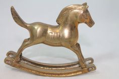 "Solid Brass Rocking Horse Pony 4""x3.25"" #Gifts"