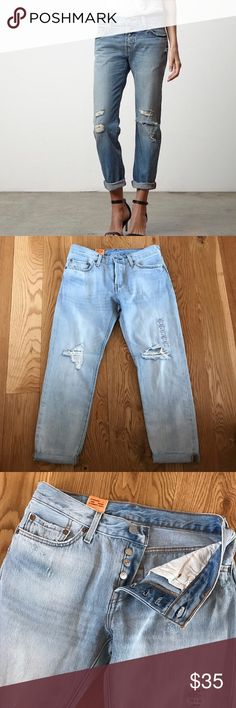 "NWT LEVIS 501CT CUSTOMIZED AND TAPERED LEG Your spring staple in denim. NWT Levi's 501CT is customized and tapered. Button fly, cropped look with rolled leg for style. 26"" waist and 32"" inseam. Levi's Jeans Ankle & Cropped"