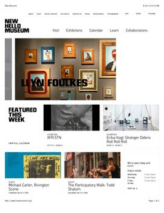 New Museum website design