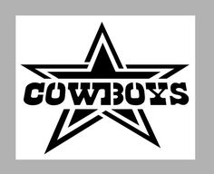 nfl dallas cowboys star with font reuseable stencil free usa s h rh pinterest com Black and White Dallas Cowboys Logo Dallas Cowboys Logo Colors