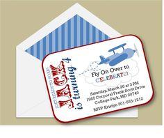 Little Aviator Invitation for Airplane Themed Birthday Parties. $16.50, via Etsy.
