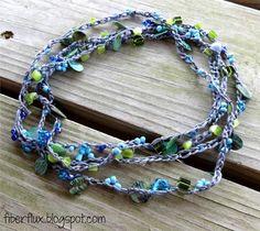 Beach Glass Crochet Necklace « The Yarn Box