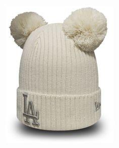 7c815ffda58 LA Dodgers New Era Girls Double Pom Bobble Hat (5 - 10 years)