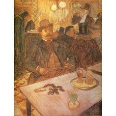 M Boileau at the Cafe 1893 Canvas Art - H de Toulouse-Lautrec (18 x 24)