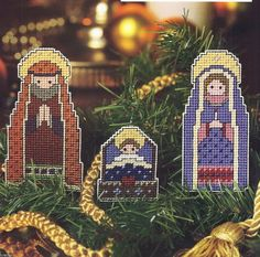 Holy Family Tree Ornaments to Stitch Pattern Only Plastic Canvas Pattern | eBay