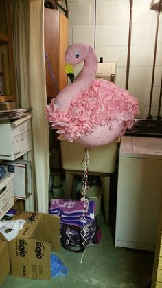 Pink Flamingo adult pinata I made for Meatfest 2015!