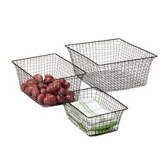 love these baskets from container store.
