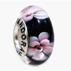 Amazon.com: 1 Sterling Silver 925 ALE Pandora Style & Pandora Inspired Murano Glass Charm Purple/Pink Flowers Bead Fit Pandora Chamilia Biagi Charms Bracelet (Authentic 925): Jewelry