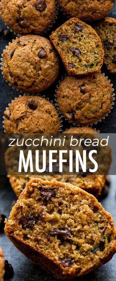 Here's an award winning recipe for zucchini bread muffins! With brown sugar, van… Here's an award winning recipe for zucchini bread muffins! With brown sugar, vanilla, and cinnamon, you can't taste the zucchini. Recipe on sallysbakingaddic… Vegan Zucchini Recipes, Zucchini Bread Muffins, Gluten Free Zucchini Bread, Healthy Bread Recipes, Easy Homemade Recipes, Gourmet Recipes, Baking Recipes, Zucchini Cookies, Healthy Zucchini