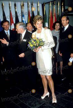 10-25-1993 Brussels, Belgium Princess Diana Photo By:dave Chancellor-alpha-Globe Photos, Inc 1993