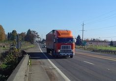 Schneider National Truck Driver On the Road