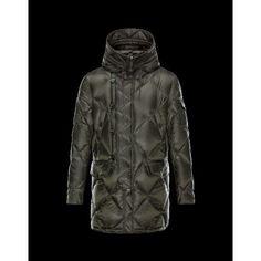 brand new acb50 998f1 Moncler EDWIN Turtleneck Dark Grün Winterjacken Techno Fabric Polyamide  Herren 41456985CP