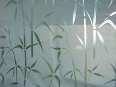 FROSTED BAMBOO Stained Glass Window Film 35 X6 ft.