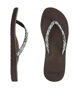Reef Official Store, REEF GINGER DRIFT, brown aqua white, Girls : Sandals : Essentials, RF-001334