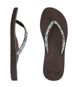 Reef Official Store, REEF GINGER DRIFT, brown aqua white, Girls : Sandals : Essentials, RF-001334