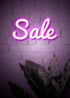 sale signs Neon purple sale sign on a brick wall Body Shop At Home, The Body Shop, Neon Rosa, Lash Quotes, Plant Box, Shopping Quotes, Neon Purple, Pink, For Sale Sign