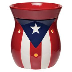 Puerto Rico Full-Size Scentsy Warmer PREMIUM Show your pride with Puerto Rico, emblazoned with the white star and red-and-white bars of the flag.