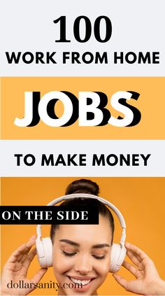 100 work from home jobs to make money on the side. Earn From Home, Work From Home Jobs, Make Money From Home, Make Money Online, Matched Betting, Legit Online Jobs, Creating Passive Income, Virtual Assistant Services, Make Money Fast