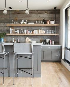 Modern kitchen cabinets are sometimes not made from metal. Also kitchen. Modern kitchen cabinets are sometimes not made from metal. Also its great to have precisely what you want in your kitchen. Classic Kitchen, Rustic Kitchen, New Kitchen, Kitchen Decor, Kitchen Ideas, Kitchen Inspiration, Kitchen Layout, Kitchen Modern, Kitchen Hacks
