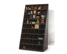 Wood Display Shelf, Triangle, Vintage Hardware Parts Organizer. 275.00, via Etsy.